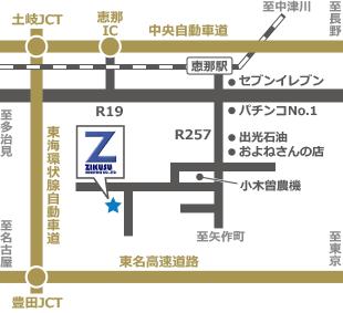 ジクス工業までの地図